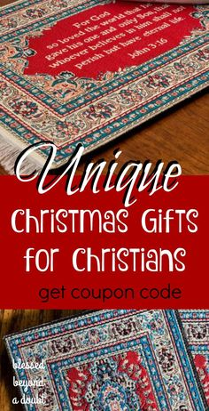 Check out these beautiful, unique Christmas gifts for Christians. The prices are very reasonable, too. Enter the giveaway today!  ad