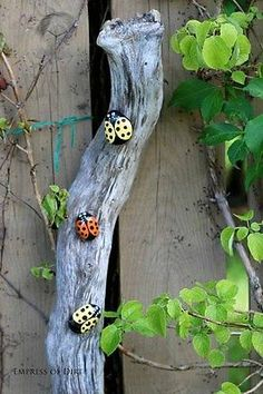 This is a fun project to do with kids: turn plain stones into ladybug garden art