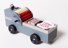 Here's a sneak-peek at my entry into this year's CSCA Pinewood Derby. You gotta love the iconic...