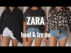 Try On, Spring Summer Fashion, Summer Outfits, Channel, Zara, Youtube, T Shirt, Shopping, Tops