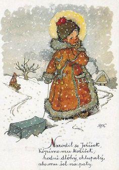 Christmas Images, Vintage Christmas, Vintage Postcards, Vintage Photos, Holiday Cards, Christmas Cards, Illustrator, Nostalgic Art, Book Illustration