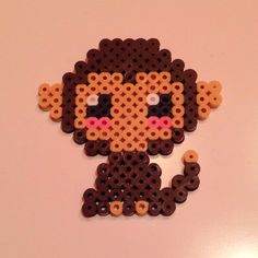 Hama Perler bead monkey by mikagard