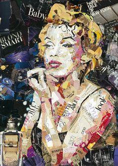 "Saatchi Art Artist Ines Kouidis; Collage, ""Blond Smart Baby  -  SOLD"" #art"