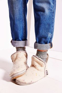 I need new slippers, and these look cozy. A little bland, but sometimes bland is comforting.