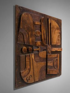 For Sale on - Giancarlo Patuzzi, wall panel, wood, Italy, circa This rare wooden sculptural wall-mounted artwork is designed by Giancarlo Patuzzi. An Abstract Wooden Wall Panels, Wooden Walls, Wood Wall Art, Wall Pannels, Bamboo Art, Wood Resin, Ap Art, Paintings I Love, Wall Sculptures
