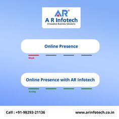 Now You Chosen What is Good for Your Business Weak Online Presence or Strong Online Presence With AR Infotech? Our Services:👇 ▪️SEO ▪️SMO ▪️Web Design ▪️Web Development ▪️Internet Marketing ▪️Content Marketing ▪️HTML & More 😌 Hire Us Today👍 📞Call On: Best Web Development Company, Best Seo Company, Content Marketing, Internet Marketing, Online Marketing, Digital Marketing Services, Seo Services, Successful Online Businesses, Reputation Management