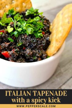 Spicy Italian tapenade can be made smooth (like a paste) for use as a spread. Or it can be left chunky to be enjoyed as a fun-to-eat dip. There are so many ways to enjoy it. #spicyrecipes #spicyitaliantapenade #tapenade #olives #italiantapenade Best Appetizer Recipes, Best Appetizers, Spicy Recipes, Italian Drinks, Italian Recipes, Raw Vegetables, Tapenade, Italian Pasta, Stuffed Jalapeno Peppers