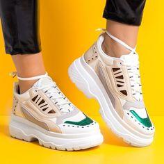 Sneakersi dama albi Camundi