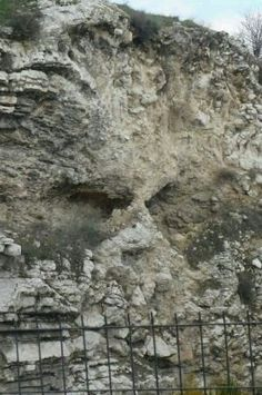 Golgotha, the Skull Place where Jesus was nailed on a torture stake