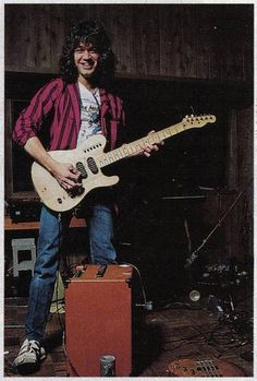 Eddie Van Halen 1984 with Ripley guitar by Taylor Player, via Flickr