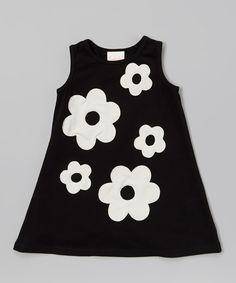 Another great find on #zulily! Black & Ivory Audrey Swing Dress - Toddler & Girls by Buckleberry Kids #zulilyfinds