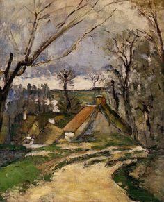 "impressionism-art-blog: "" Cottages of Auvers via Paul Cezanne Medium: oil on canvas"""