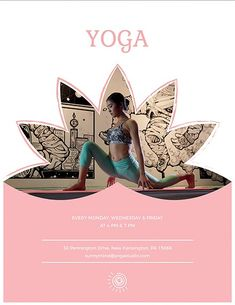 Yoga Class Promotional Flyer PSD Mockup #Yoga #PSD #Mockup