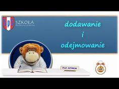 Dodawanie i odejmowanie - Szkoła Profesora Szymona - YouTube Multimedia, Facebook, Education, Maths, Youtube, Professor, Therapy, Onderwijs, Learning