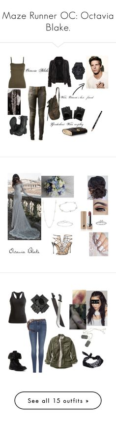 """""""Maze Runner OC: Octavia Blake."""" by gracenerada ❤ liked on Polyvore featuring AllSaints, T By Alexander Wang, Balmain, Casio, Sergio Rossi, Belk & Co., Blue Nile, Marc Jacobs, 7 For All Mankind and Black Diamond"""