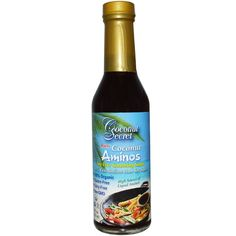 Coconut Aminos are my favorite soy-free alternative to soy sauce.   I use it frequently in my sauces, dressings and marinades. This is a great substitute for those that don't use soy products.