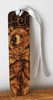 Pyrography - Grizzly bear bookmark by BumbleBeeFairy