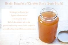 Chicken Stock (bone broth) - Against All Grain Health Benefits Of Chicken, Paleo Recipes, Whole Food Recipes, Soup Recipes, Paleo Soup, Paleo Diet, Against All Grain, Homemade Chicken Stock, Get Thin