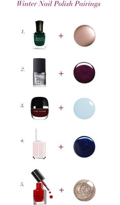 Winter Nail Polish Pairings // via South by Northwest
