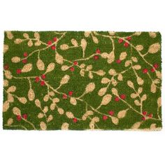 Mistletoe Welcome Mat $28  from natural coconut coir