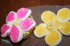 Daisy Cupcakes - easy to make and great for girl scouts