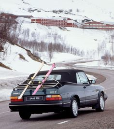 #saab #car #old #ski