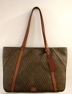 Fossil AVA TOTE Shopper ~ Convertible Bag ~ Brown MULTI Design ~ New/NWT #Fossil #TotesShoppers