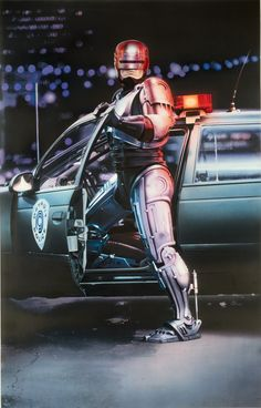 Robocop Written by Edward Neumeier and Michael Miner, Robocop is a 1987 sci-fi action film directed by Paul Verhoeven and starring Peter Weller, Nancy. Sci Fi Movies, Action Movies, Movie Tv, Action Film, Watch Movies, Robocop 2, Gwendolyn Christie, Film Mythique, Vintage Movies