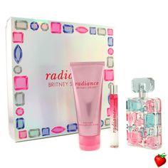 Britney Spears Radiance Coffret: Eau De Parfum Spray 50ml/1.7oz + Body Souffle 100ml/3.3oz + Edp Roller Ball 10ml/0.33oz 3pcs #BritneySpears #Perfume #GiftSet #WomensGift #StrawberryNET