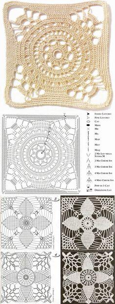 Transcendent Crochet a Solid Granny Square Ideas. Inconceivable Crochet a Solid Granny Square Ideas. Crochet Motif Patterns, Granny Square Crochet Pattern, Crochet Blocks, Crochet Diagram, Crochet Squares, Crochet Granny, Granny Squares, Crochet Crafts, Crochet Yarn