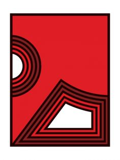 Red Kenneth (2012) - Geometric Art by Gary Andrew Clarke