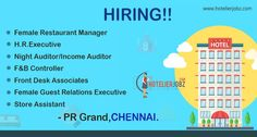 New Hotel on board guys!!  &  New #Jobs too  PR GRAND, a Pre- opening 5 Star Hotel in #Chennai is looking to hire staff for their new endeavor! Apply here: https://goo.gl/8uMsaz