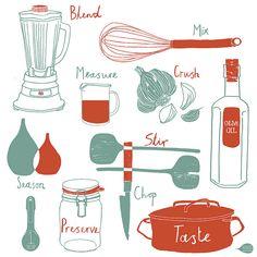 Kitchen Tea Towel illustration