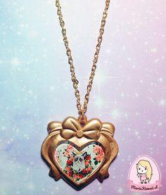Collar Corazón Grumpy Cat por mariakawaiistore en Etsy #kawaii #grumpycat #necklace #harajuku