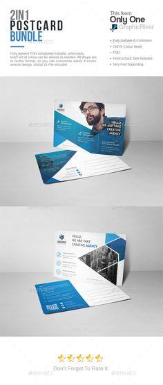 Business Postcard Template #design Download    graphicriver - postcard template