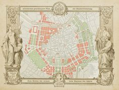 old map of Vienna - Ringstraße - R S - HotelsPedi Vienna Map, Architecture Baroque, Otto Wagner, Cities, Pathfinder Rpg, City Maps, Technical Drawing, Urban Planning, Map Art