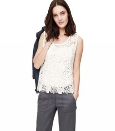 8 Modern Ways To Wear White Lace via @WhoWhatWear