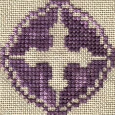 Free Assisi Cross Cross-Stitch Motif Pattern Model