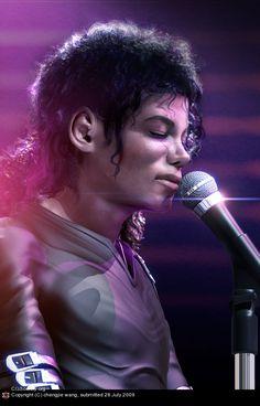 35 incríveis retratos de celebridades em 3D - Michael Jackson
