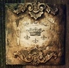 Michelle Butler Designs French Crown Wall Plaque SHOP www.crownjewel.design