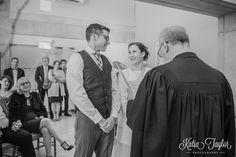Toronto City Hall Wedding - Intimate ceremony in the wedding chamber.