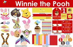 Winnie the Pooh Birthday Party Printables  Mini by LiPPaperie, $10.00