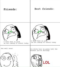 The difference between friends and best friends – 18 Pics