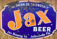 A pre-1956 Jax beer sign.. I always wanted this one Jax beer sign at this bar when we had our dog Jax.  :( I miss him!