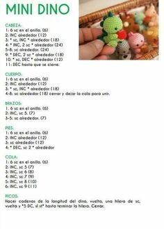 Crochet Amigurumi Free Patterns, Crochet Animal Patterns, Quick Crochet, Cute Crochet, Minis, Hello Kitty Crochet, Crochet Doll Tutorial, Selling Crochet, Crochet Dinosaur