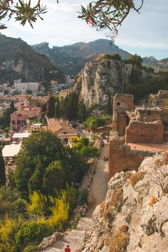 The ancient amphitheater in Taormina, Sicily dates back to the 7th century and overlooks Mt. Etna and the Sicilian coastline. Beautiful.