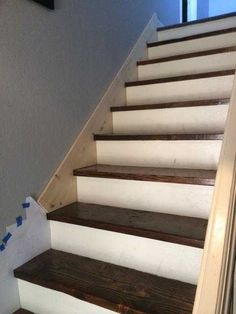 Post with 124 votes and 54065 views. Shared by How to make a skirt board for preexisting stairs. Stairs Skirting, Stairs Trim, Redo Stairs, Tile Stairs, Basement Stairs, House Stairs, Stair Trim Ideas, Hardwood Stairs, Stair Moulding