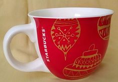 I try to describe the overall condition as best possible. Starbucks Christmas, Christmas Coffee, Starbucks Mugs, Gold Christmas Ornaments, Red Christmas, Large Coffee Mugs, Mug Cup, Tea Mugs, Red Gold