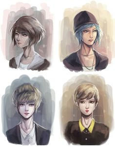 The girls from life is strange - max claufield, chloe price, kate marsh and victoria chase Life Is Strange Fanart, Life Is Strange 3, Overwatch, Kate Marsh, Dontnod Entertainment, Arcadia Bay, Indie, Me Anime, You Draw