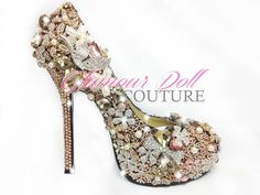 Just a little bit of bling! Glamour Dolls, Decorated Shoes, Party Shoes, Dream Wedding, Wedding Dreams, Peep Toe, Wedding Inspiration, Bling, Pairs